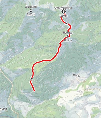Karte / Salzburger Almenweg - Etappe 04