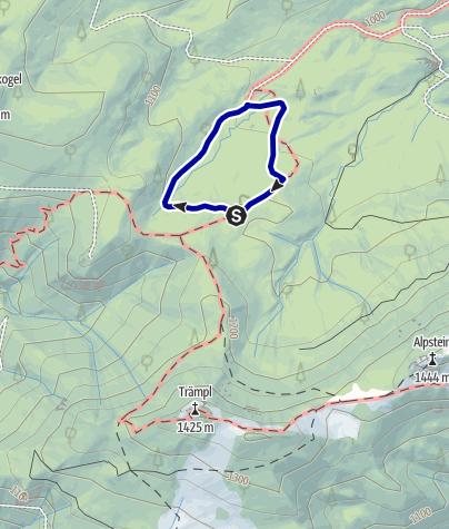 Karte / Ebenforst - Wollgras, Alm und Wasserschwinde, Rundwanderweg