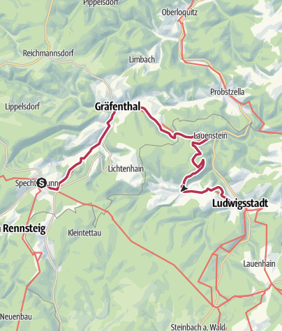 Map / Luther Trail: Section 19 – From Spechtsbrunn to Ludwigsstadt