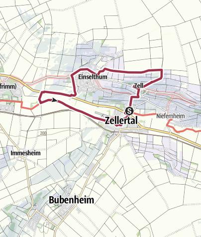 Map / Zellertalweg (Rundweg Harxheim - Zell - Kleinmühle)