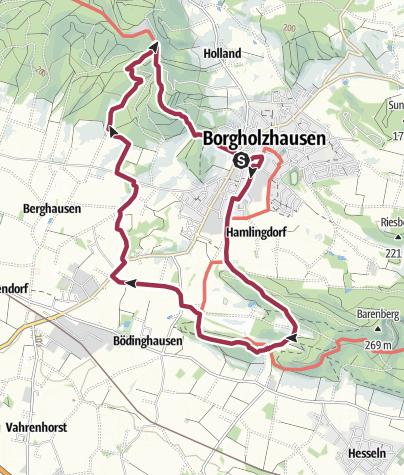 Karte / TERRA.tipp: Rund um Borgholzhausen