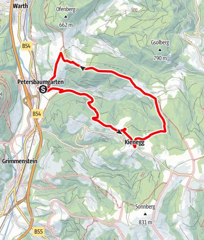 Térkép / Buchberger Weg (Warth-Petersbaumgarten)