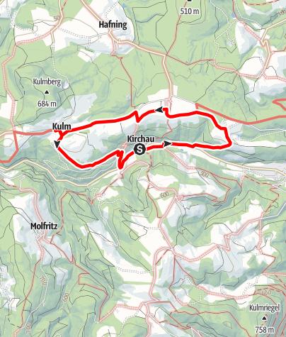 Mapa / Kulmer Weg (Warth-Kirchau)