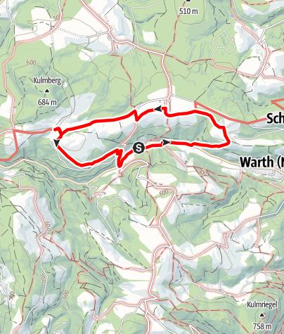 Térkép / Kulmer Weg (Warth-Kirchau)