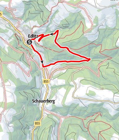 Karte / Rundwanderweg K2 Bindergraben - Schafferhof