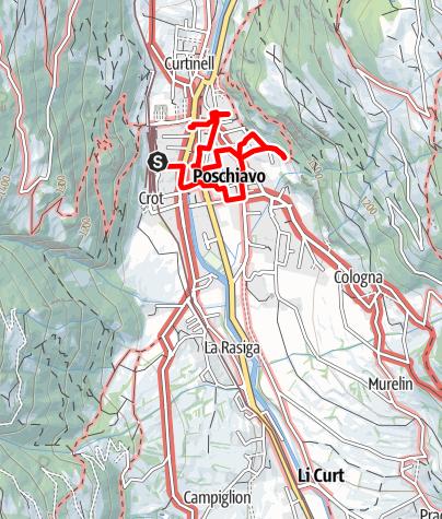 Karte / Das Unerwartete: Auf den Spuren Wolfgang Hildesheimers durch Poschiavo
