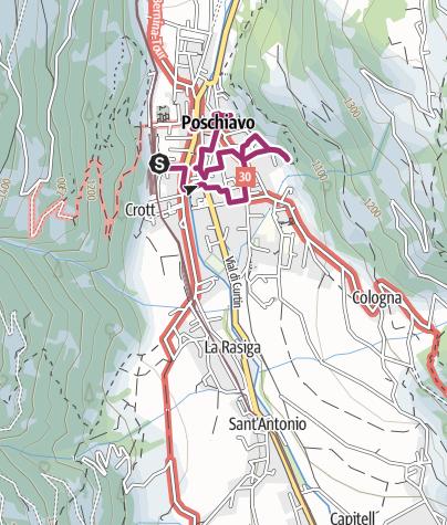 Cartina / L'inatteso: alla scoperta di Poschiavo sulle orme di Wolfgang Hildesheimer
