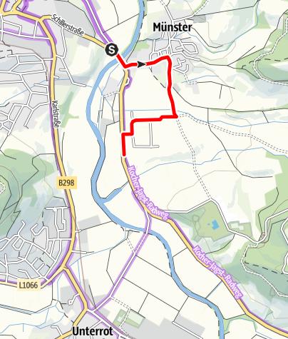 Karte / Umleitung Kocher-Jagst-Radtour (Gaildorf-Münster)