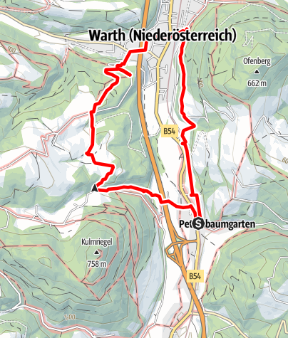 Map / Leidinger Weg (Warth-Petersbaumgarten)