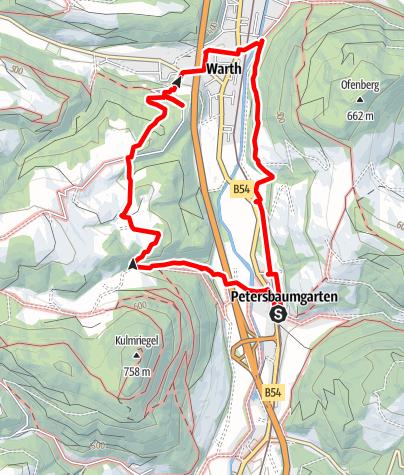 Térkép / Leidinger Weg (Warth-Petersbaumgarten)