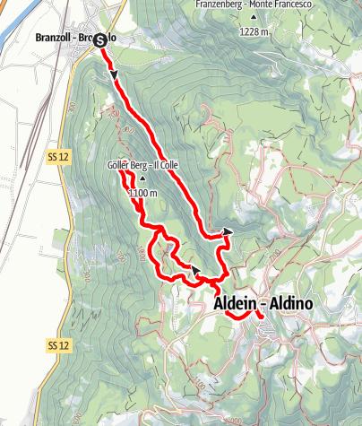 Map / To the Göller Lake and Aldino/Aldein