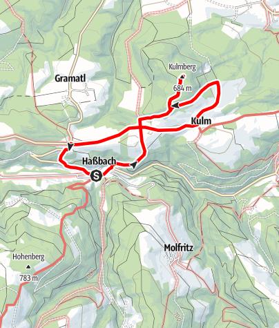 Mapa / Kulmberg Weg (Warth-Haßbach)