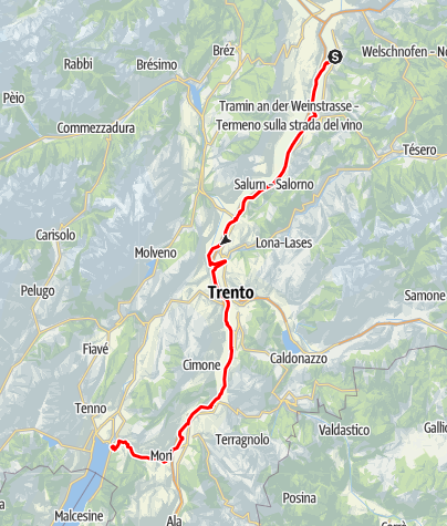 Mapa / Tagesfahrt an den Gardasee