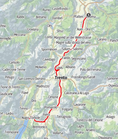 Map / Take a racing bike to Lake Garda
