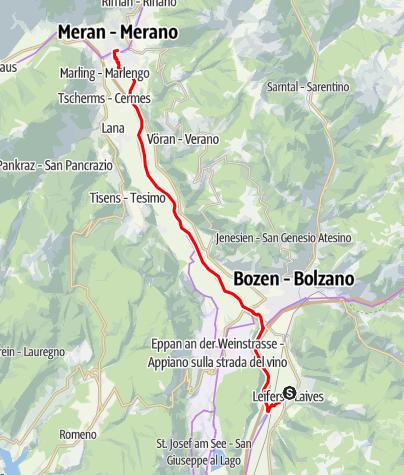 Mapa / Tagesausflug nach Meran
