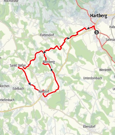 Karte / Hartberg Kaindorf Hartberg über den Marterlweg