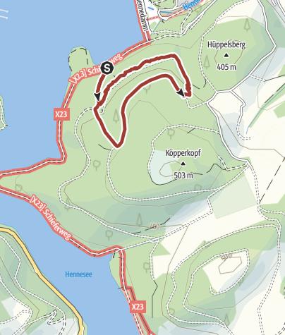 Karte / SinnePfad am Hennesee