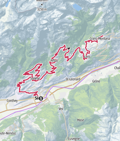 Map / Valais Cycling Tour: Sion - Crans-Montana (stage 1)