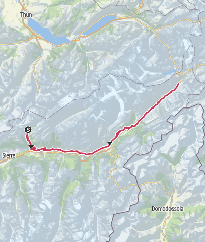 Map / Valais Cycling Tour: Leukerbad - Oberwald (stage 3)