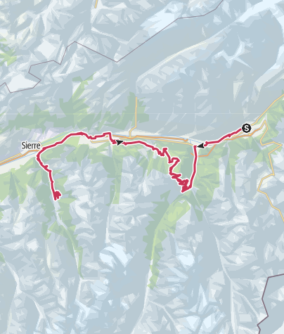 Map / Valais Cycling Tour: Brig - St.Luc Anniviers (stage 5)