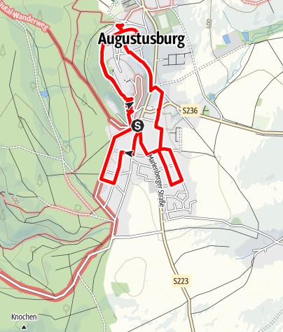 Karte / Rhododendronweg in Augustusburg