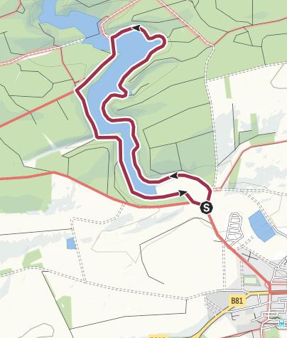 Karte / Hassel-Vorsperre -  Rundweg (1)   (HWN 53)