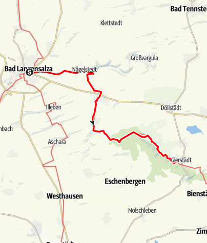 Map / Luther Trail: Section 42 – From Bad Langensalza to Gierstädt