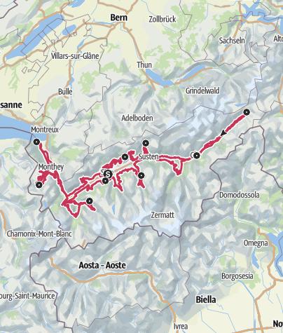 Map / Valais Cycling Tour