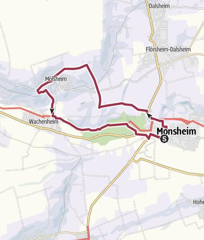Map / Zellertalweg (Rundweg Monsheim - Mölsheim - Wachenheim)