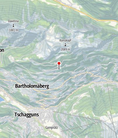 Karte / Fulasee Bartholomäberg