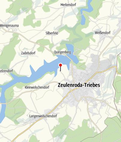 Karte / Wanderparkplatz Strandbad Zeulenroda