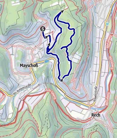 Karte / Ahr-Wandertipp: Kletterpfad zum Schwedenkopf