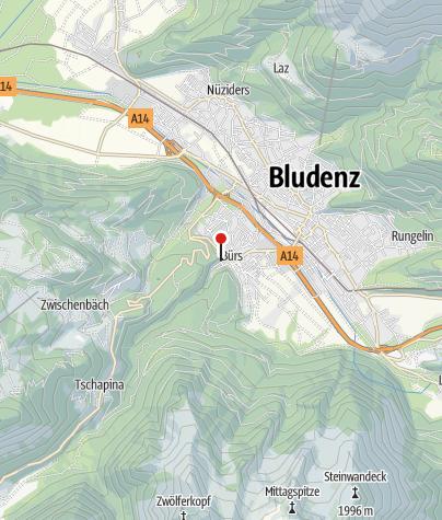 Karte / Klettergarten Bürser Schlucht
