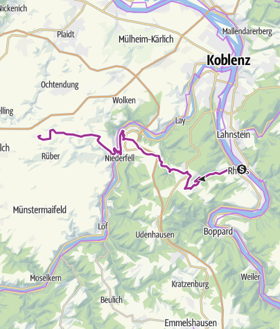 Kaart / Rhein-Mosel-Eifel-Radweg