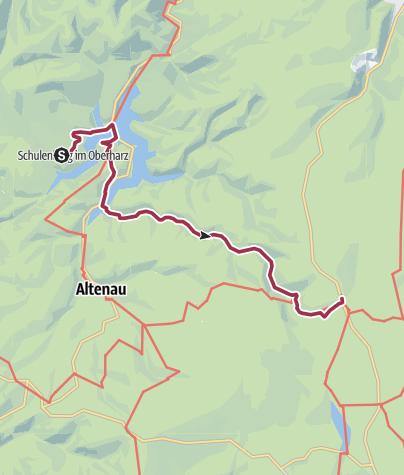Karte / Brockenrundwanderung 3. Etappe Schulenberg - Torfhaus