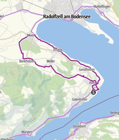 Map / Radishes, onions and lettuce – Gourmet bike trip across the Höri peninsula.