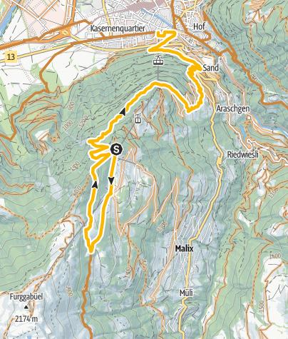 Map / Endurotour Antennatrail Brambrüesch