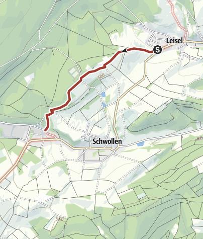 Karte / Götterallee am Nationalpark Hunsrück-Hochwald