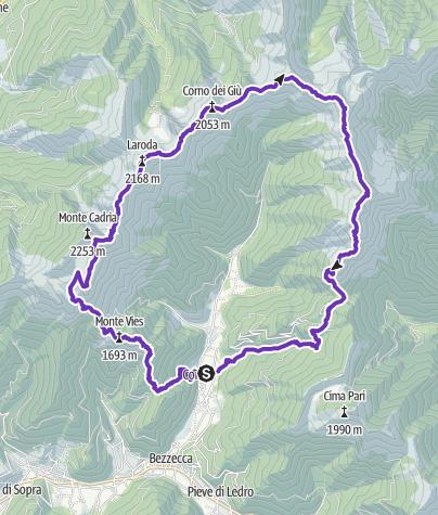 Mappa / Ledro: Monte Cadro