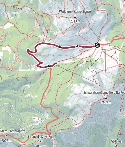 Karte / Spaziergang zur Gurndinalm und Isi Hütte