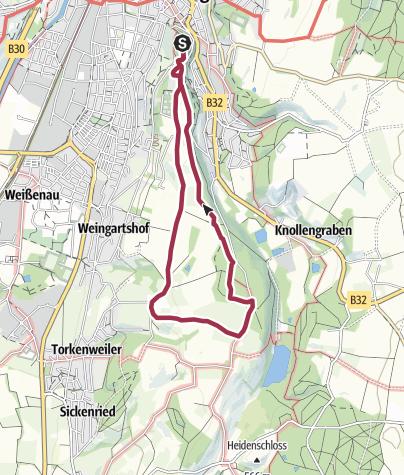 Map / Rundwanderung Fidazhofen mit Alpenblick