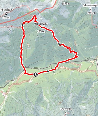 Karte / Bergtour - Weitalpspitz