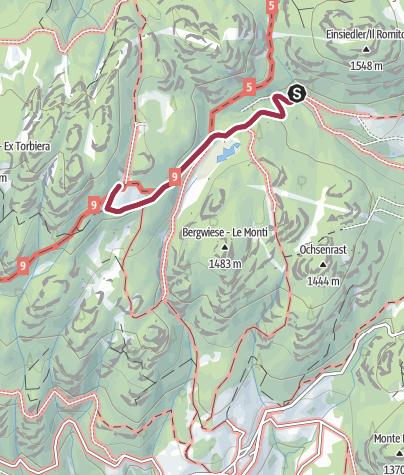 Karte / Wanderung bis zur Malghette (Krabesalm)