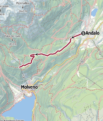 Cartina / Andalo - Pradél