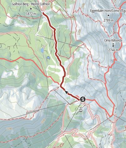 Cartina / Latemar.Alp
