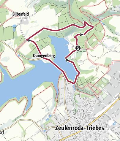 Mapa / Rundweg Staudammblick