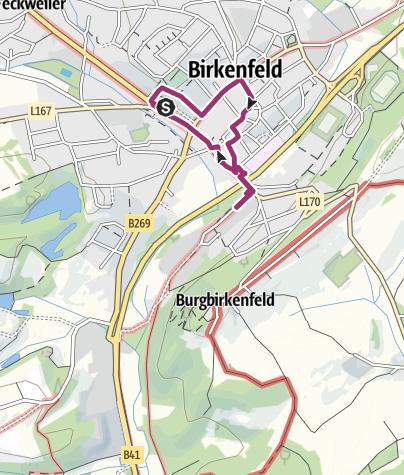Karte / Stadtrundgang Birkenfeld -  auf den Spuren der Oldenburger