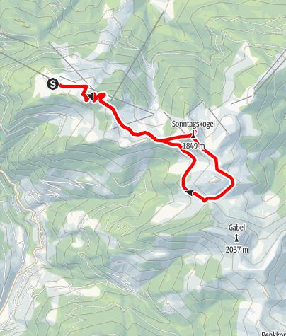 Karte / Sonntagskogel & Maurachalm