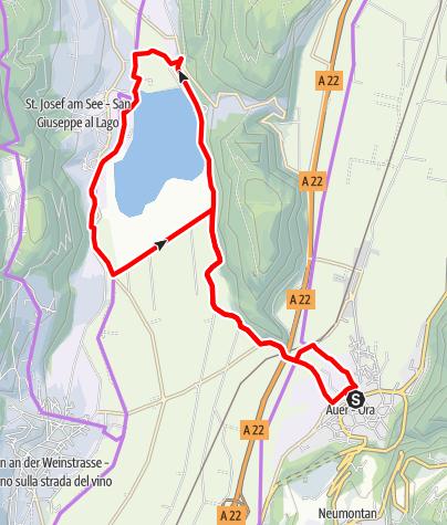Karte / Kalterer See
