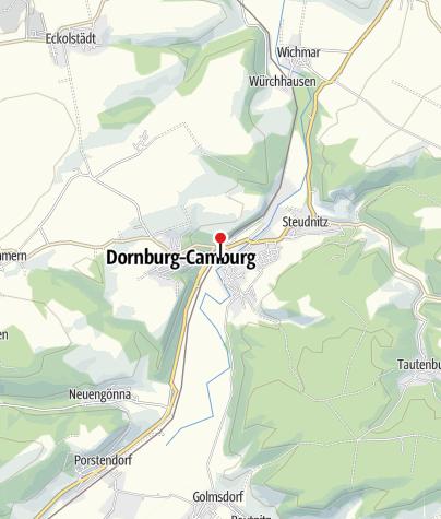 Karte / Wasserkraftanlage Dorndorf/ Ein- & Ausstieg